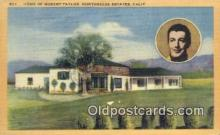 msh001087 - Robert Taylor, Northridge Estates, CA Movie Star, Actor / Actress, Post Card Postcard