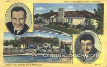 msh001091 - B. Abbott, Encino, L. Costello, N. Hollywood, CA Movie Star, Actor / Actress, Post Card Postcard