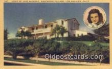 msh001093 - Jane Withers, Westwood Villiage, Los Angeles, CA Movie Star, Actor / Actress, Post Card Postcard