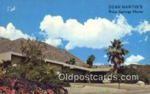 msh001094 - Dean Martin, Palm Springs, CA, USA Movie Star, Actor / Actress, Post Card Postcard
