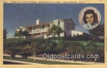 msh001095 - Jane Withers, Westwood Villiage, Los Angeles, CA Movie Star, Actor / Actress, Post Card Postcard