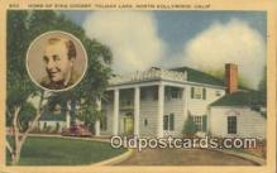 msh001096 - Bing Crosby, North Hollywood, CA USA Movie Star, Actor / Actress, Post Card Postcard