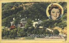 msh001097 - Myrna Loy, Near Beverly Hills, CA, USA Movie Star, Actor / Actress, Post Card Postcard