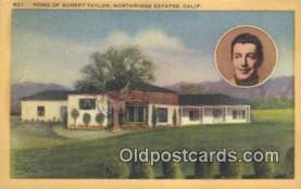 msh001106 - Robert Taylor, Northridge Estates, CA Movie Star, Actor / Actress, Post Card Postcard