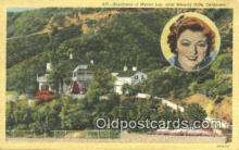 msh001107 - Myrna Loy, Near Beverly Hills, CA, USA Movie Star, Actor / Actress, Post Card Postcard