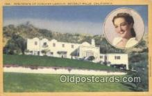 msh001109 - Dorothy Lamour, Beverly Hills, CA Movie Star, Actor / Actress, Post Card Postcard