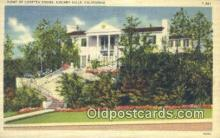 msh001142 - Loretta Young, Holmby Hills, CA, USA Movie Star, Actor / Actress, Post Card Postcard