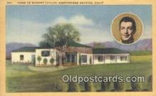 msh001147 - Robert Taylor, Northridge Estates, CA Movie Star, Actor / Actress, Post Card Postcard
