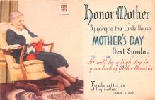mth000039 - Mothers Day Old Vintage Postcard Post Card