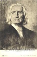 mus001021 - Franz Liszt Music, Musician, Composer, Postcard Postcards