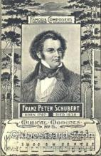 mus001023 - Franz Peter Schubert Music, Musician, Composer, Postcard Postcards