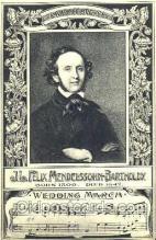 mus001024 - JL Felix Mendelssohn-Bartholdy Music, Musician, Composer, Postcard Postcards
