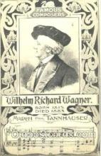 mus001025 - Willhelm Richard Wagner Music, Musician, Composer, Postcard Postcards