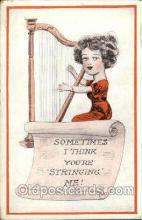 mus001026 - Harp Instrument, Music, Musician, Composer, Postcard Postcards