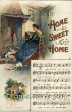 mus001034 - Home Sweet Home Music, Musician, Composer, Postcard Postcards