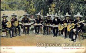 mus001039 - Orquesta tipica mexicana Music, Musician, Composer, Postcard Postcards