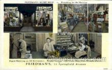 mus001049 - Friedman;s Music Shop, Newark, NJ Music, Musician, Composer, Postcard Postcards