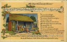 mus001055 - My Old Kentucky Home Music, Musician, Composer, Postcard Postcards