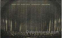 mus001061 - Radio City Music Hall, New York City, NY Music, Musician, Composer, Postcard Postcards