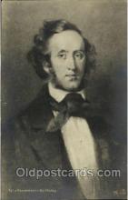 mus001119 - Felix Mendelssohn Bartholdy Music, Musician, Composer, Postcard Postcards