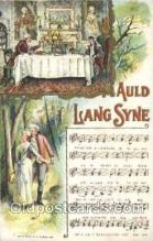 mus002013 - Auld Lang Syne, Chas, Rose,1908 Music Postcard Postcards