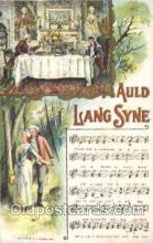 mus002013 - Auld Lang Syne, Chas, Rose,1908 Music Postcard Postcards