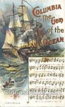 mus002018 - Columbia the Gem of the Ocean Music Postcard Postcards
