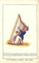 mus002028 - Harp,  Music Postcard Postcards