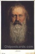 mus002038 - J.Brahms Music Postcard Postcards