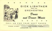 mus002048 - Dick Lightner & Orchestra Lancaster, PA USA, Music, Musical Instrument Post Card Postcards