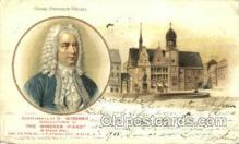mus002051 - George Friederich Handel Music, Musical Instrument Post Card Postcards