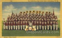 mus002076 - Parkersburg W. Va. USA HS Band High School Band, Parkersburg, West Virginia Music, Musical Instrument Post Cards Postcards