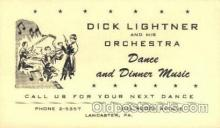 mus002077 - Dick Lightner & Orchestra Music, Musical Instrument Post Cards Postcards