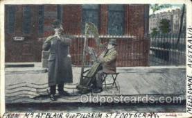 mus002079 - Harp Music, Musical Instrument Post Cards Postcards