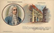 mus002136 - George Friederich Handel  Postcard Post Cards Old Vintage Antique