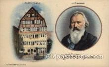mus002138 - J Brahms  Postcard Post Cards Old Vintage Antique