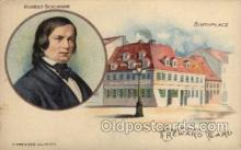 mus002139 - Robert Schumann  Postcard Post Cards Old Vintage Antique