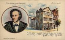 mus002141 - Felix Mendelssohn Bartholdy  Postcard Post Cards Old Vintage Antique