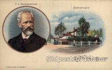 mus002145 - PJ Tschaikowsky  Postcard Post Cards Old Vintage Antique