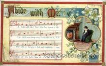 mus002147 - Abide With Me  Postcard Post Cards Old Vintage Antique