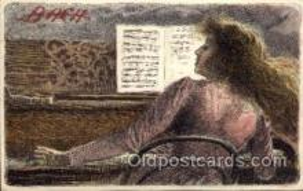 mus002160 - Bach  Postcard Post Cards Old Vintage Antique