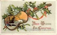 mus002166 - Best Wishes for Christmas  Postcard Post Cards Old Vintage Antique