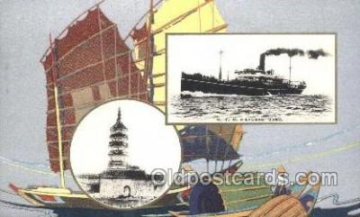 NYK001401 - S.S. Hakusan Maru N.Y.K. Nippon Yusen Kaisha Ship Ships