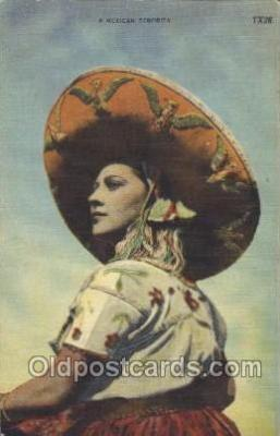 nat001025 - Mexican Senorita Native Costume Postcard Postcards