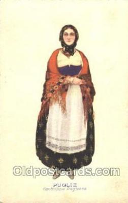 nat001041 - Puglie Native Costume Postcard Postcards