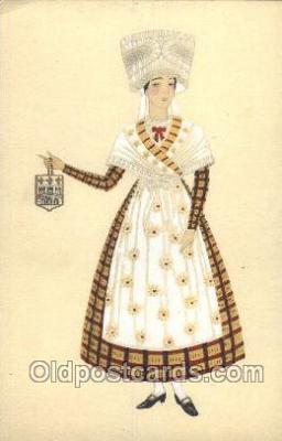 nat001042 - Saintonge Native Costume Postcard Postcards