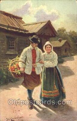 nat001046 - Artist Joh. Gerstenhauer Native Costume Postcard Postcards