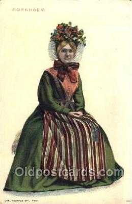 nat001064 - Bornholm Native Costume Postcard Postcards