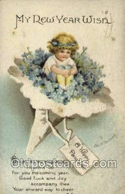 new001098 - New Year Post Cards Postcard