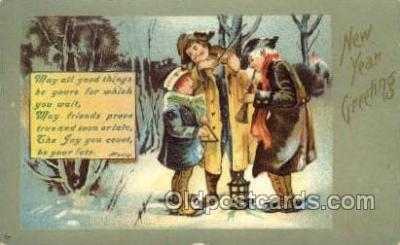 new001133 - New Year Post Cards Postcard